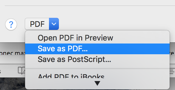 save to pdf from print